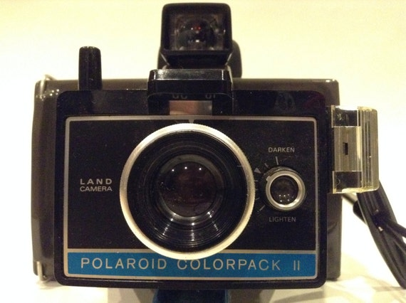 vintage polaroid colorpack ii land camera old original box how to manual 11 used flashes. Black Bedroom Furniture Sets. Home Design Ideas