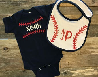 baby boy baseball, personalized baseball one piece, coming home outfit