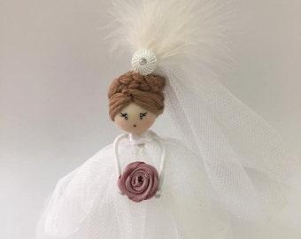 Doll Brooch Bride Jewelry