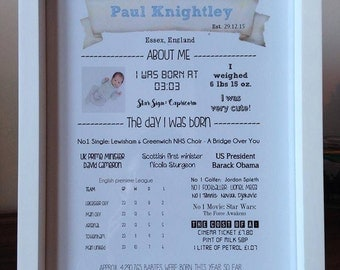 on the day I was born new baby gift nursery decor