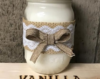Hand Poured Vanilla Soy Candle