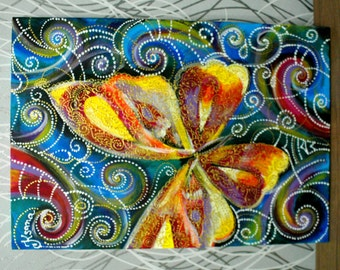 multi-colored butterfly,picture, bright picture,Acrylic painting, Wall decor, Abstract  painting, Wall art,