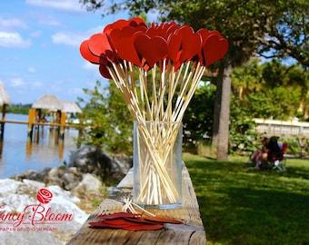 200 Hearts on a stick. Aisle Decor, Wedding Decorations, Beach Wedding, Heart Decoration, Wedding Aisle