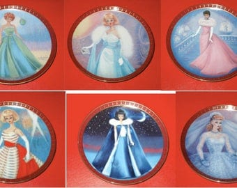 Barbie collector plate set Danbury mint brand new collectible princess