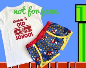 Old School Mario Coachella Shorts and Tee Set