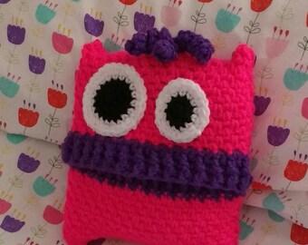 Crochet friendly monster pajama case