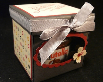 Mini Nutella gift box chocolate birthday, thank you, lucky charms, gift, surprise