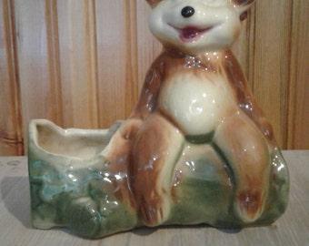 Vintage Bear Planter