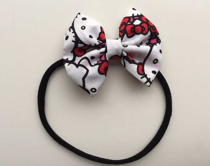 Hello Kitty fabric hair bow or bow tie