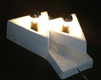 Mid century ceramic wall lamp