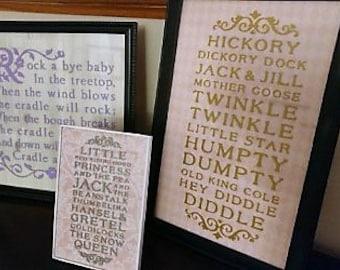 Nursery Rhyme Decor