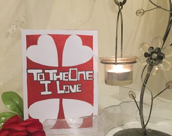 To the one I love handmade card