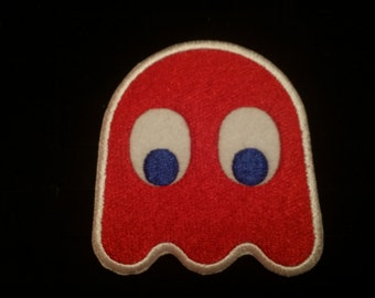Vintage Pacman arcade ghost Blinky patch