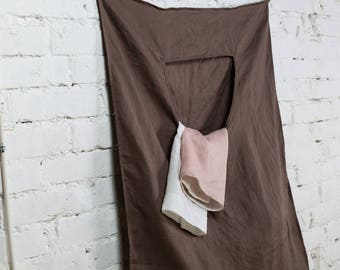Linen laundry, hanging laundry bag, home linen bag, dirty laundry bag, big laundry bag, laundry tote, wall laundry bag/LH0009