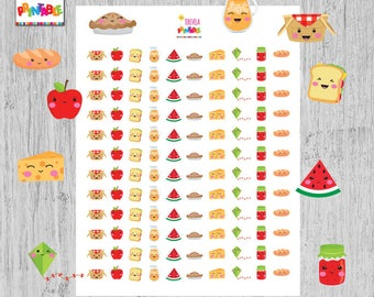 60% OFF PICNIC planner stickers, kawaii planner stickers, printable planner stickers, food stickers, fruit stickers, cute sitckers