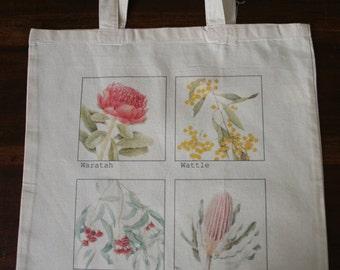 Calico Bag - Australian Flora