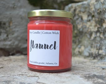 Flannel Candle | Scented Soy Wax | Amber Musk Fragrance