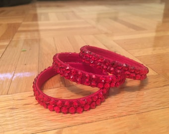 Light Siam Swarovski Bracelet