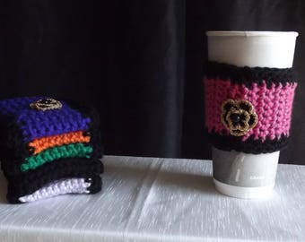 Cup Sleeves with Flower