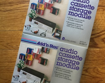 ADD 'N STAC Audio Cassette Storage (qty. 2 New Old Stock)