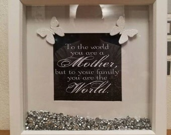 Mum/Mothers day frame/Grandmother/Box frame/Birthday gift/Mum/Mother of the bride/Nanny gift/mother