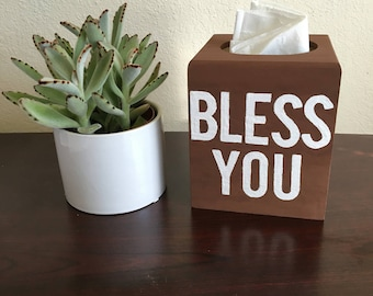 Bless You Tissue box holder