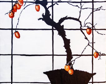 acrylic painting, modern art, contemporary art, bonsai, art deco, charity