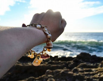 Shell bracelet - Bracelet with seashells - Pearls