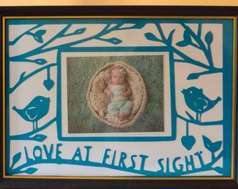 Love at First Sight Papercut Frame