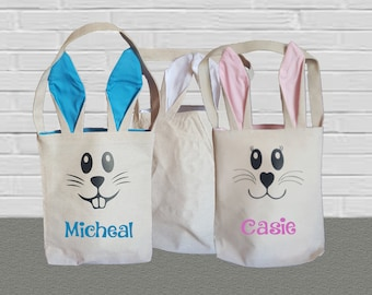 Easter Bunny Ears Canvas Tote Bag