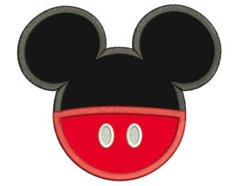 Mickey Mouse Head Embroidery Applique Design
