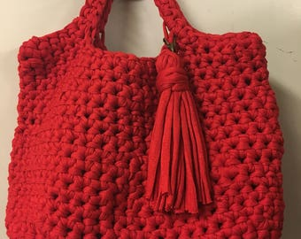 Candy Apple Red Bucket Bag