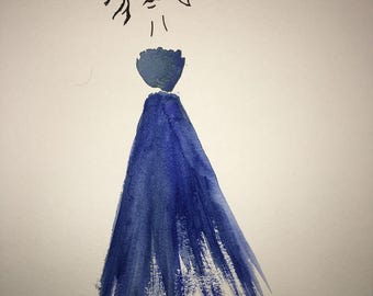 The Wispy Woman in Blue
