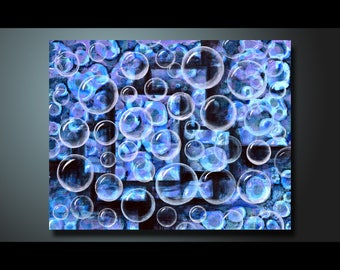 Original Painting blue, Wall Art Abstract painting Home Decor, Modern Art Canvas Artwork Hand Made Abstract Acrylic Painting 16x20