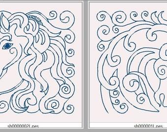 Swirly Horseheads