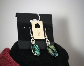 Dichroic earrings Item #1064