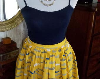 1950's Style full circle skirt Size UK/AU 12-14