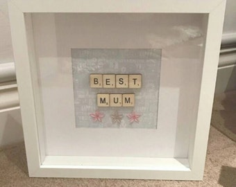 Handmade 'Best Mum' Shadow Box Frame