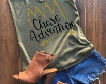Chase Adventure Shirt  / Hiking Shirts / Adventure Shirts / Traveler Shirts / Summer Shirts / Mountains Shirts / Camping Shirts