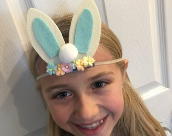 Floral Cottontail headband