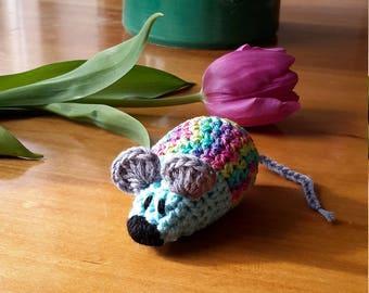 Crocheted mouse, mice hug