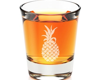 2 pcs Shot Glass -  Pineapple  -  SGH5057-ED17P