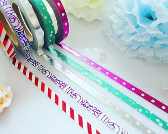 Foil Washi Tape Set 5 Stationery Masking Deco Tape