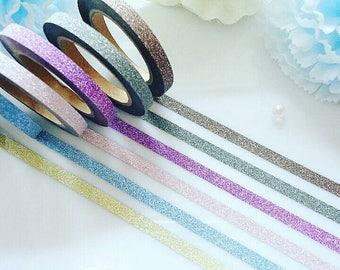 Glitter Washi Tape Set Sparkle Sparkly Bling Stationery Masking Deco Tape