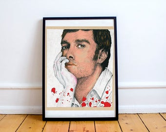Dexter Morgan Michael C Hall Drawing Print