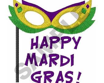 Happy Mardi Gras - Machine Embroidery Design