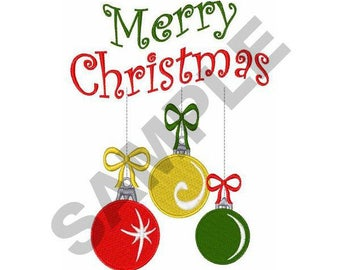 Merry Christmas - Machine Embroidery Design