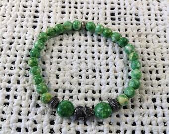 Green elephant bracelet