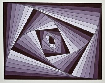 Purple Vortex Monochromatic Gradient Painting
