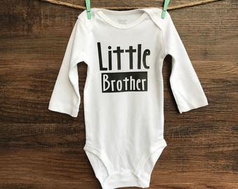 Little Brother Bodysuit - Little Brother Tee  - Sibling Shirts